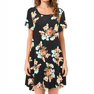 [JollieLovin] Floral Tunic Short Sleeve size 2x